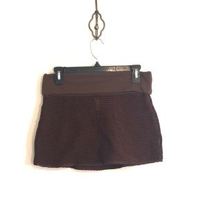 [Victoria's Secret] Brown Crochet Knit Swim Skirt
